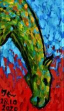 2020.10.28 ex-04 PakjeKunst, groen paardeportret